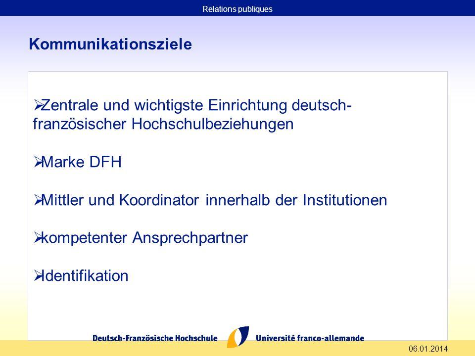 Mittler und Koordinator innerhalb der Institutionen