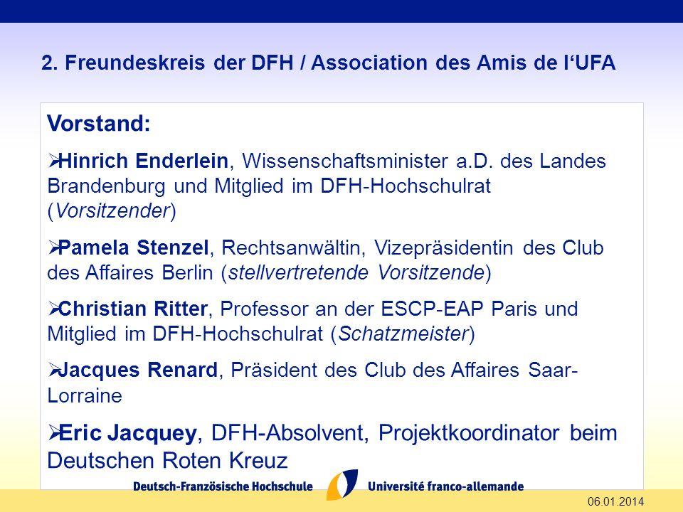 2. Freundeskreis der DFH / Association des Amis de l'UFA