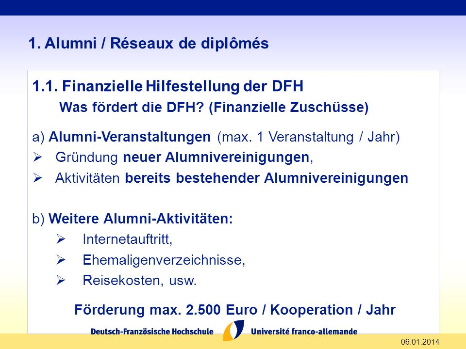 Förderung max. 2.500 Euro / Kooperation / Jahr