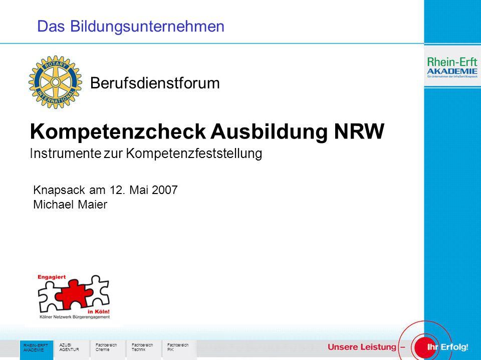 Kompetenzcheck Ausbildung NRW