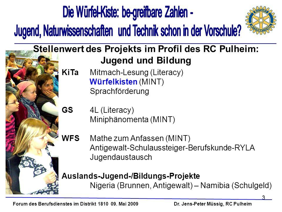 Stellenwert des Projekts im Profil des RC Pulheim: