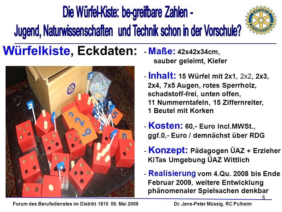 Würfelkiste, Eckdaten:
