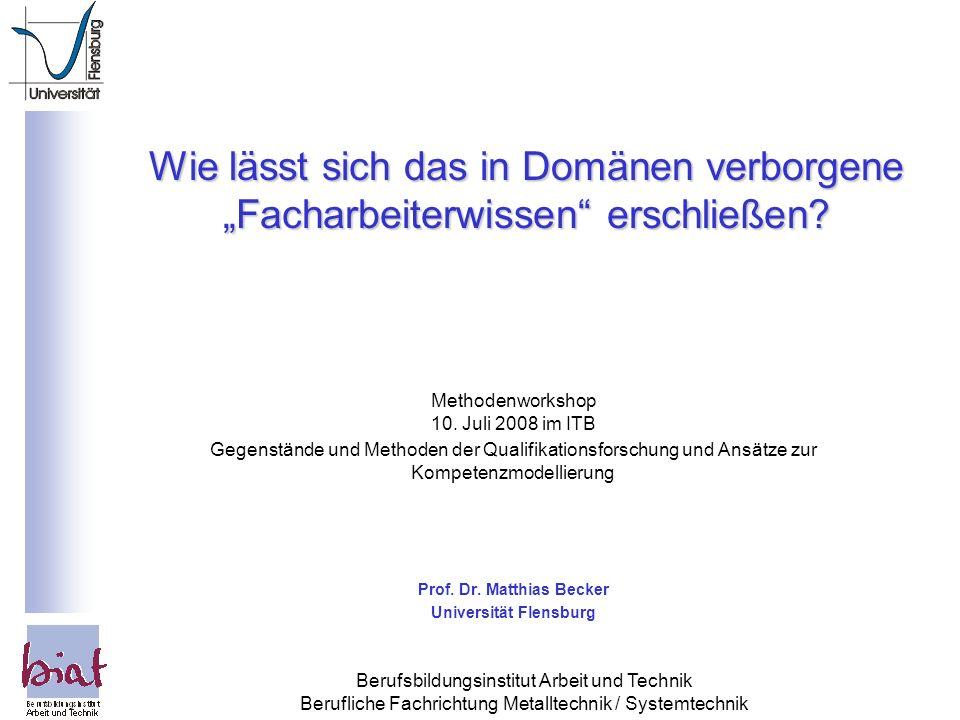 Prof. Dr. Matthias Becker Universität Flensburg