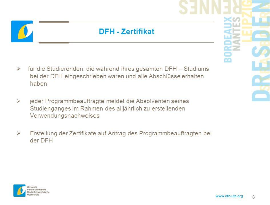 DFH - Zertifikat