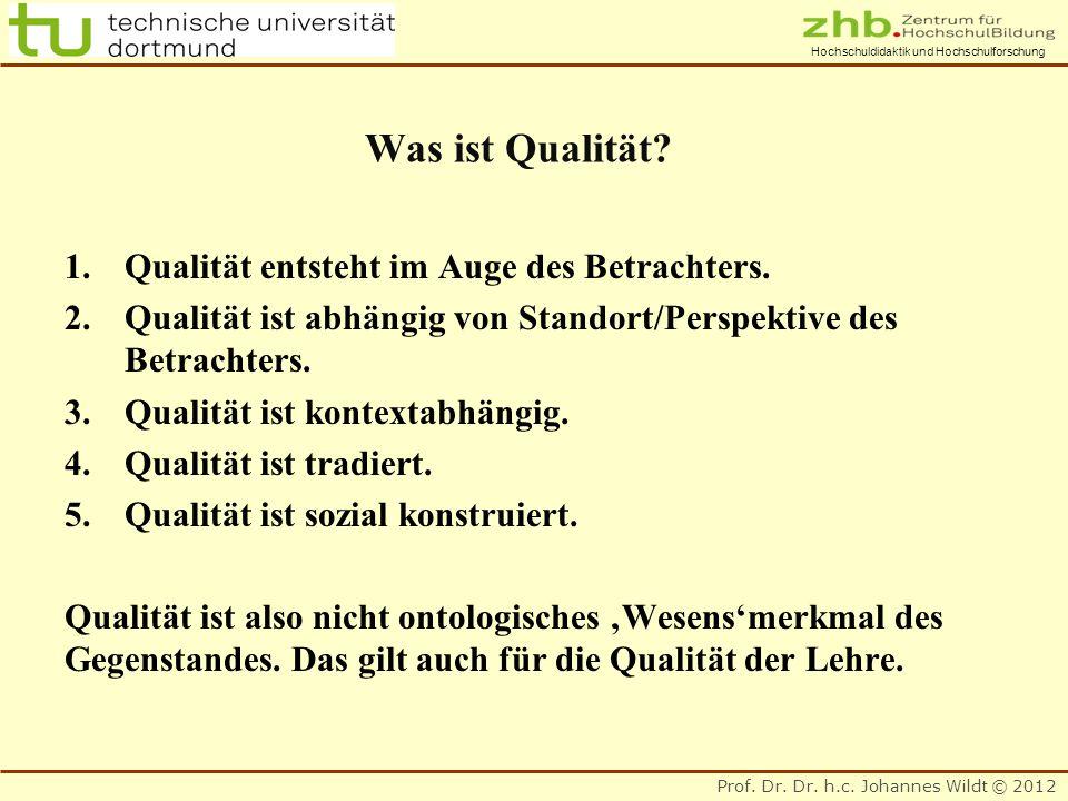 Was ist Qualität Qualität entsteht im Auge des Betrachters.