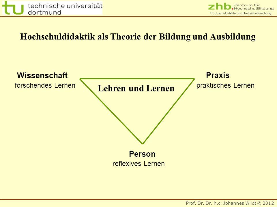 Hochschuldidaktik als Theorie der Bildung und Ausbildung
