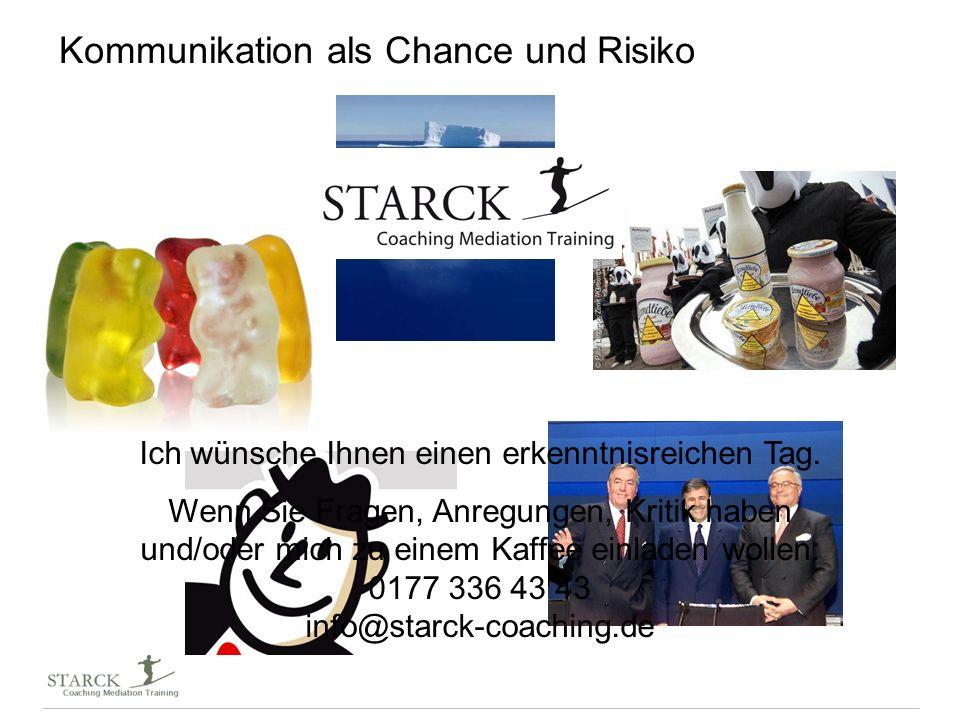 Kommunikation als Chance und Risiko