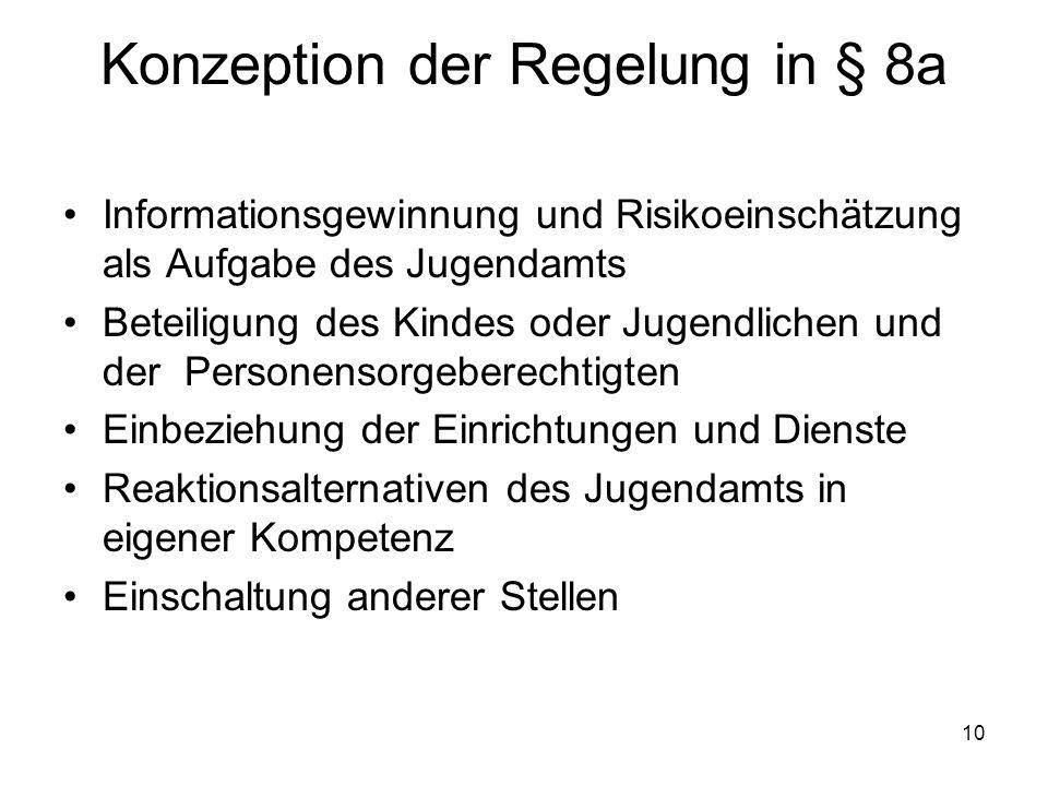 Konzeption der Regelung in § 8a