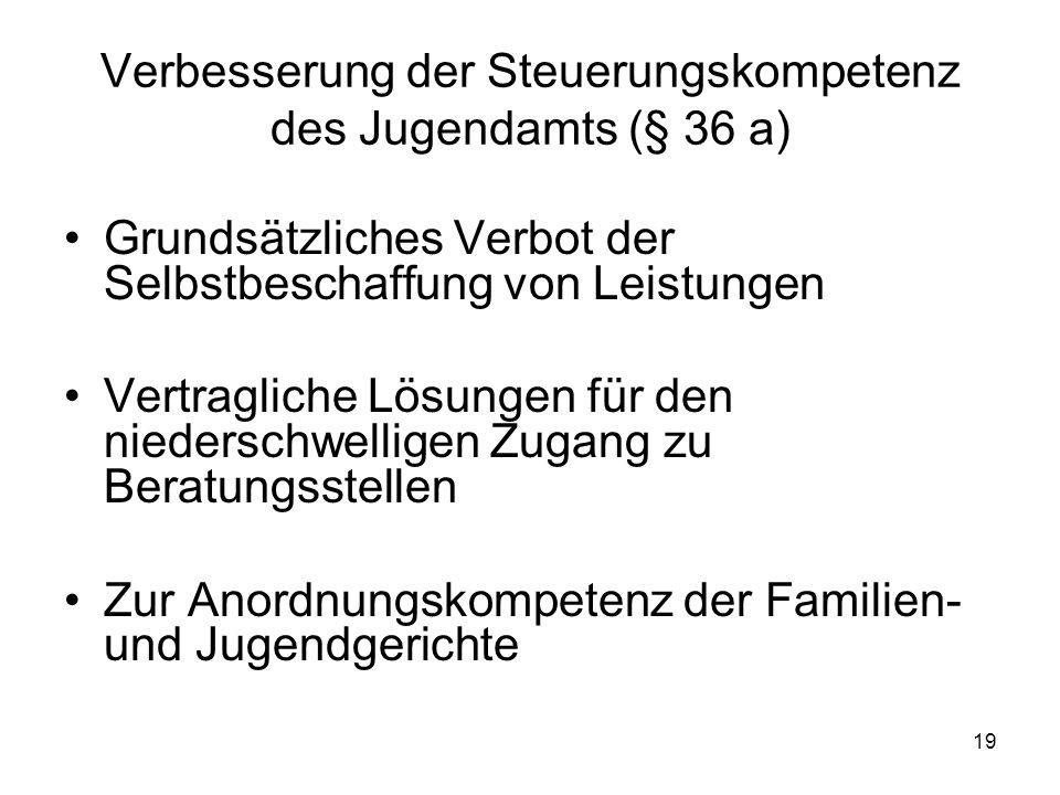 Verbesserung der Steuerungskompetenz des Jugendamts (§ 36 a)