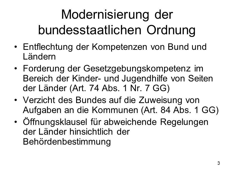Modernisierung der bundesstaatlichen Ordnung