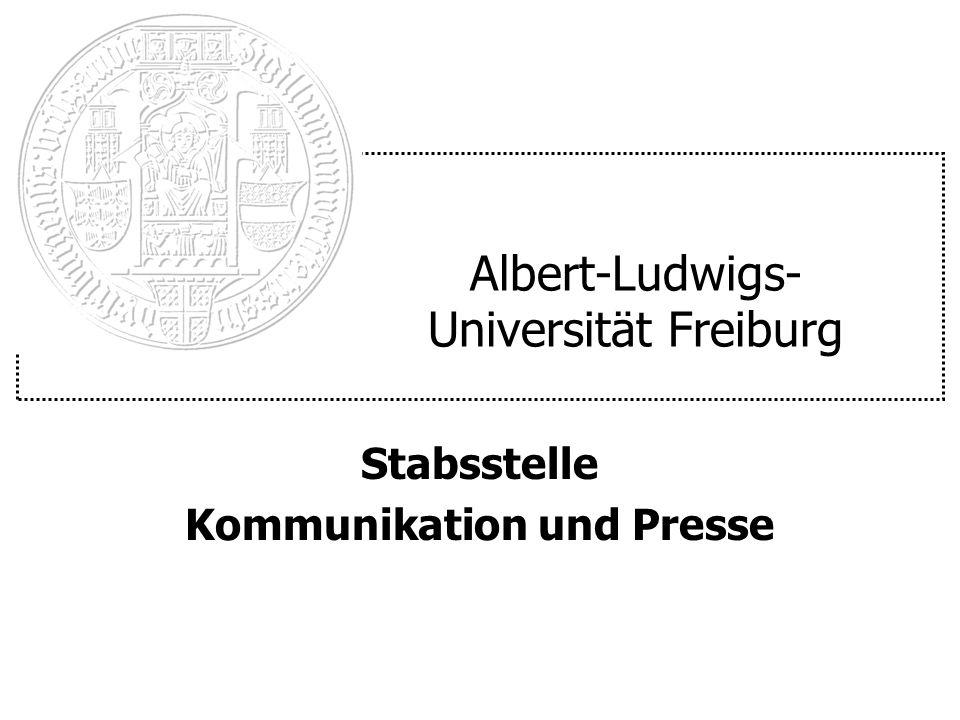 Albert-Ludwigs- Universität Freiburg