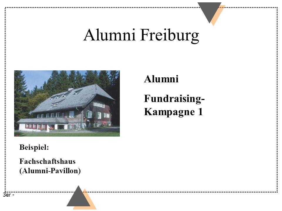 Alumni Freiburg Alumni Fundraising-Kampagne 1 Beispiel: