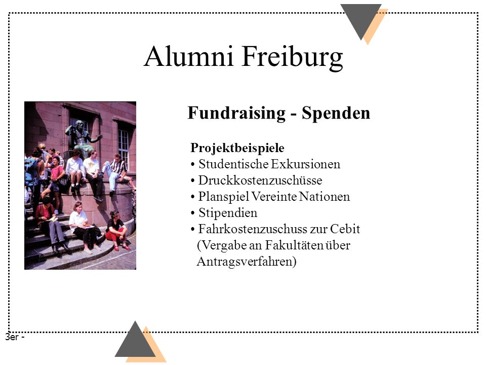 Alumni Freiburg Fundraising - Spenden Projektbeispiele
