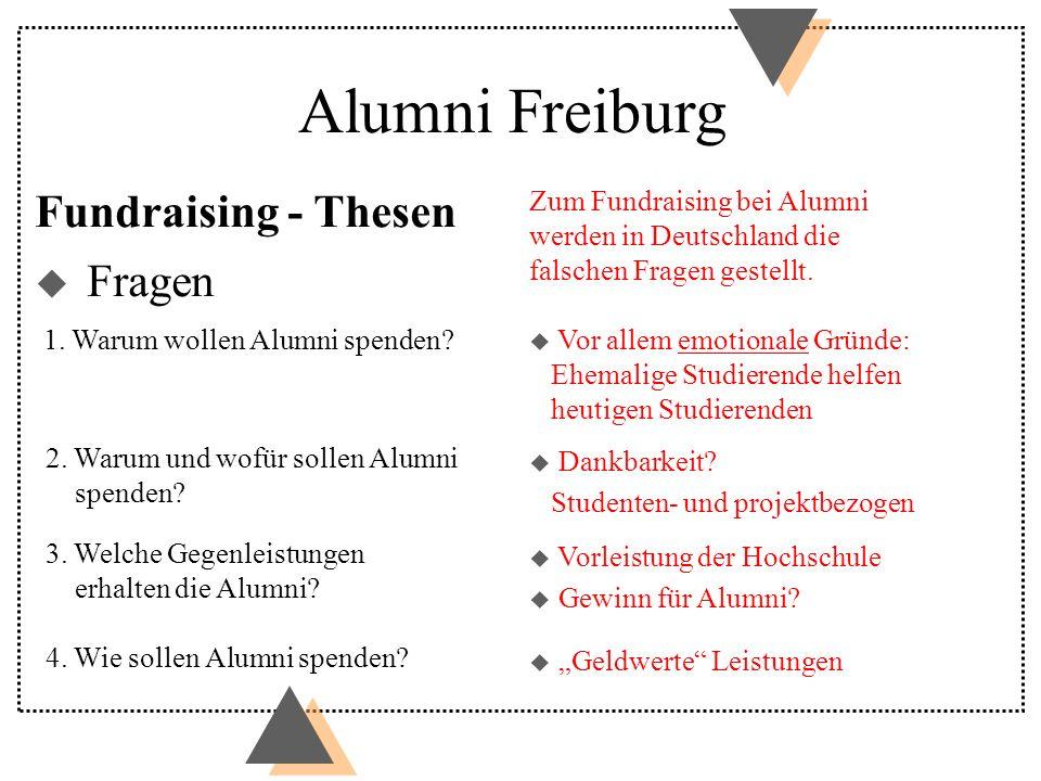 Alumni Freiburg Fundraising - Thesen Fragen