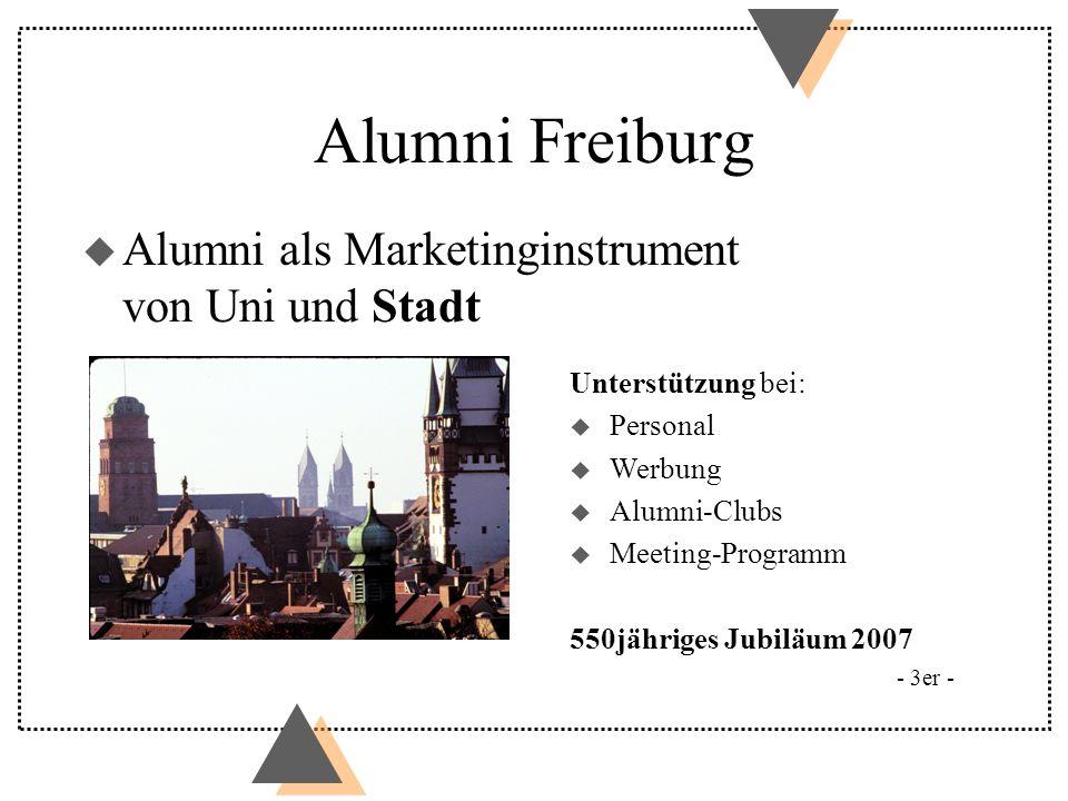 Alumni Freiburg Alumni als Marketinginstrument von Uni und Stadt
