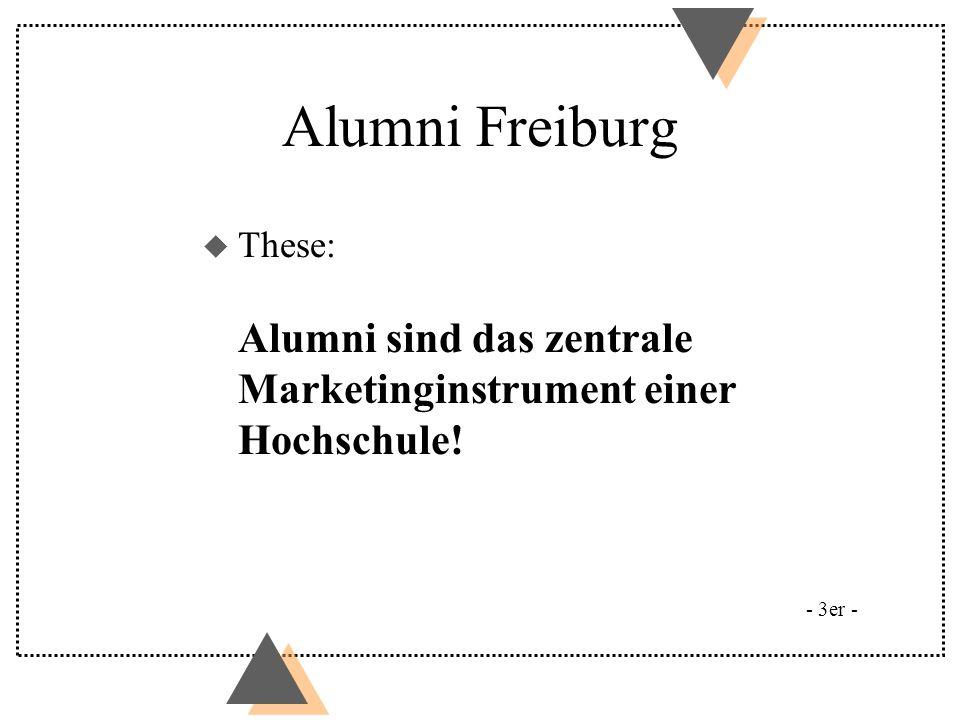 Alumni Freiburg These: Alumni sind das zentrale Marketinginstrument einer Hochschule! Beispiel Yale: