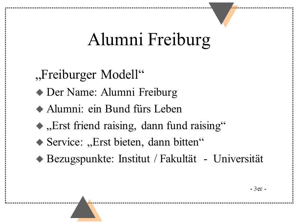 "Alumni Freiburg ""Freiburger Modell Der Name: Alumni Freiburg"