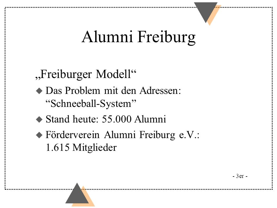 "Alumni Freiburg ""Freiburger Modell"