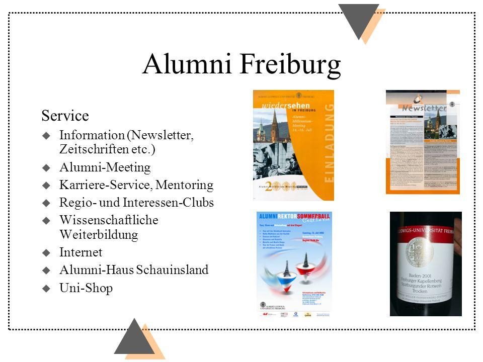 Alumni Freiburg Service Information (Newsletter, Zeitschriften etc.)