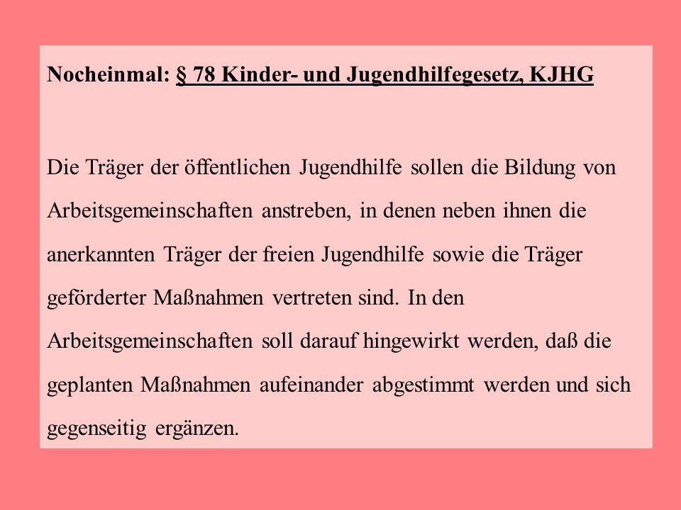 Nocheinmal: § 78 Kinder- und Jugendhilfegesetz, KJHG