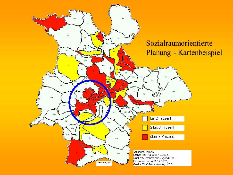 Sozialraumorientierte Planung - Kartenbeispiel