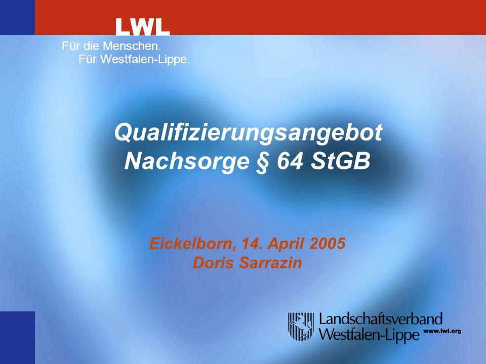 Qualifizierungsangebot Nachsorge § 64 StGB Eickelborn, 14