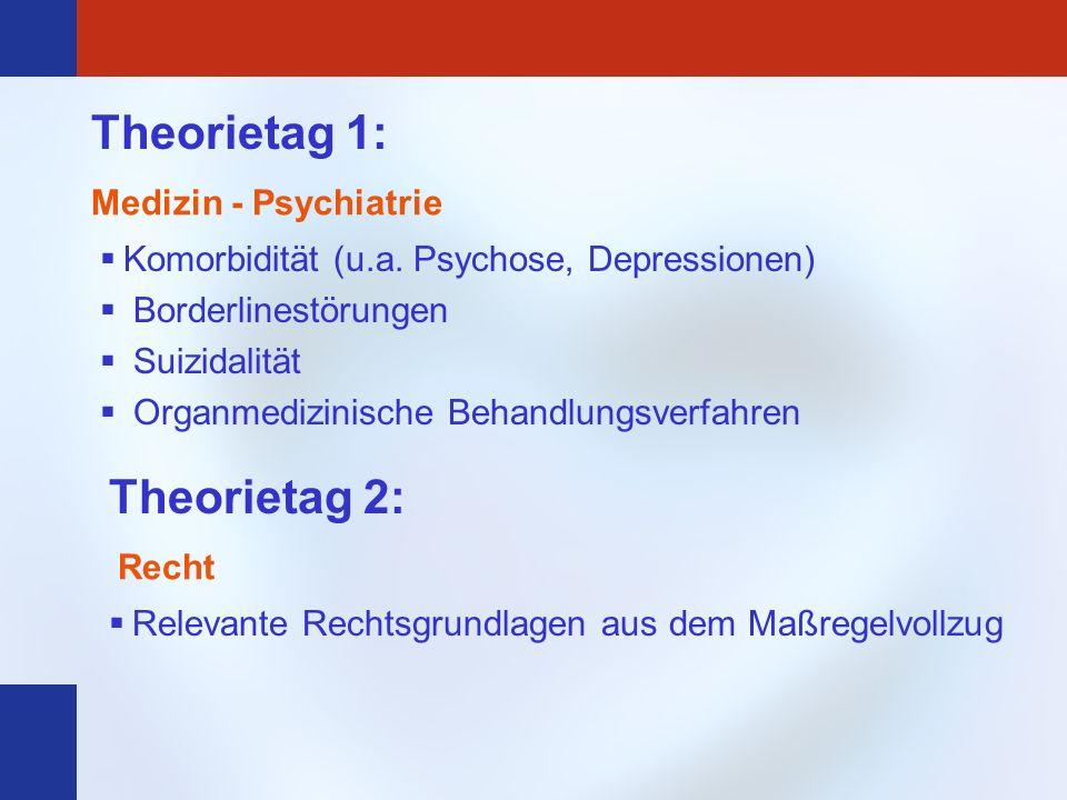 Theorietag 1: Theorietag 2: Medizin - Psychiatrie