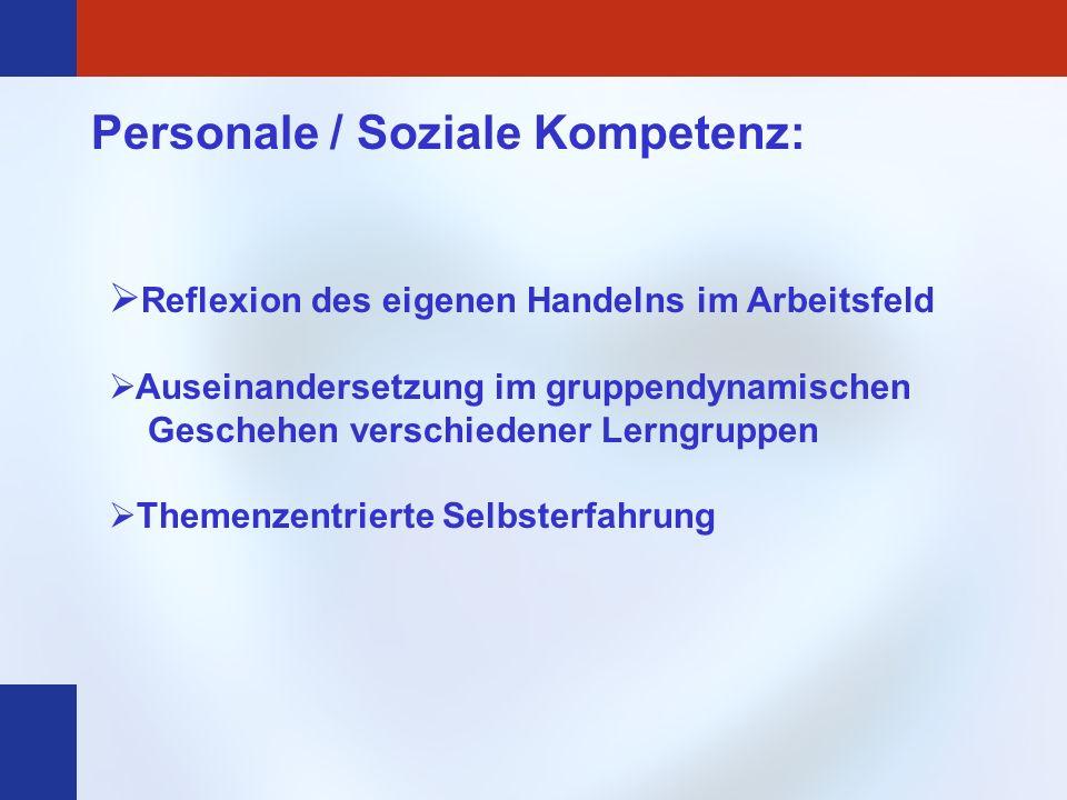 Personale / Soziale Kompetenz: