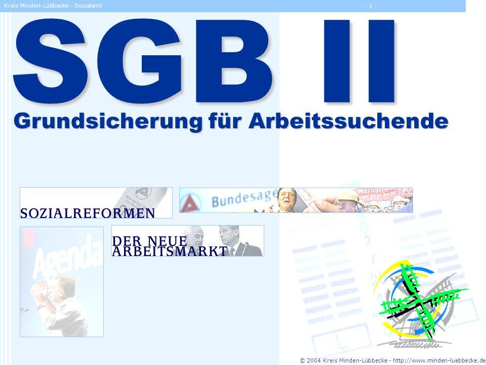 SGB II Grundsicherung für Arbeitssuchende