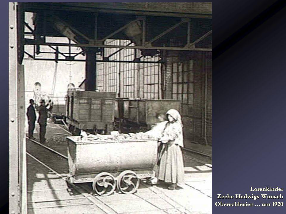 Lorenkinder Zeche Hedwigs Wunsch Oberschlesien ... um 1920