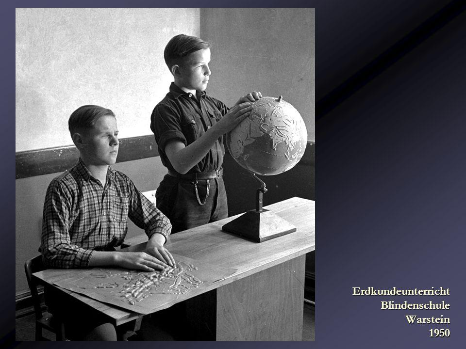 Erdkundeunterricht Blindenschule Warstein 1950