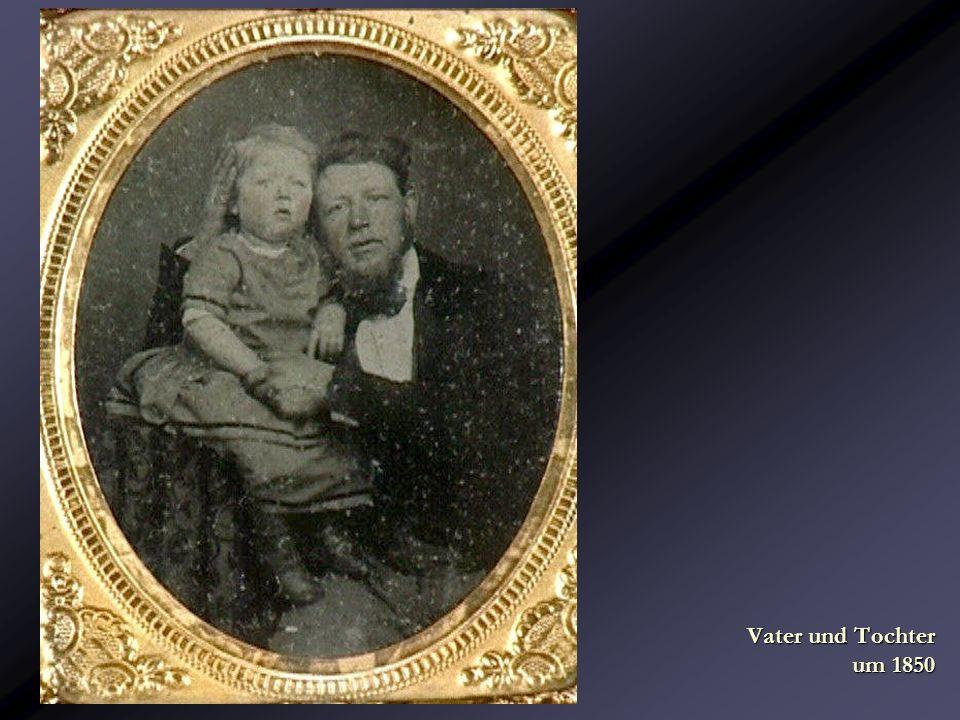 Vater und Tochter um 1850