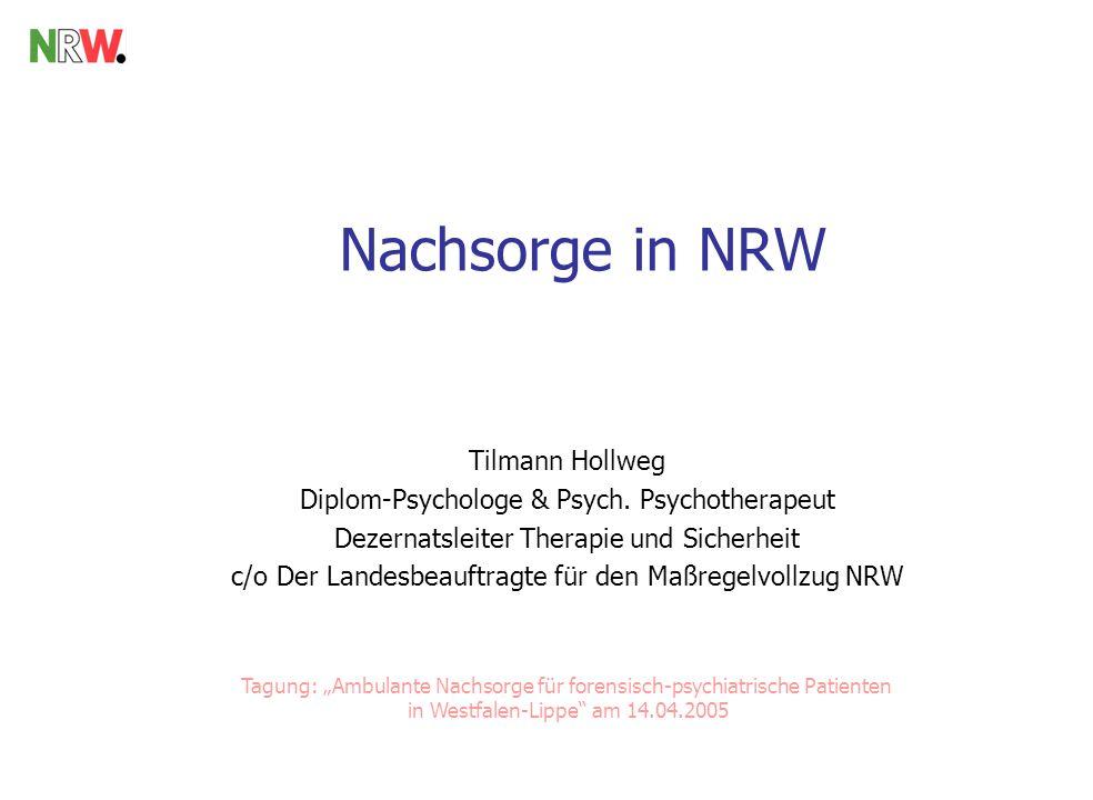 Nachsorge in NRW Tilmann Hollweg