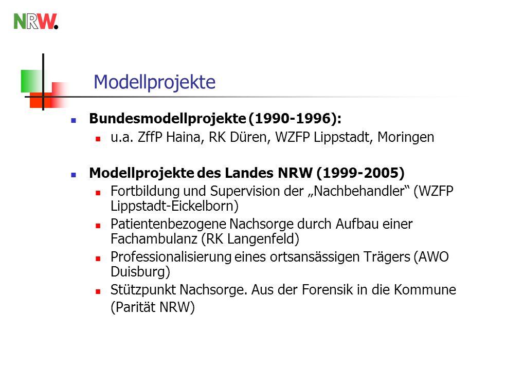 Modellprojekte Bundesmodellprojekte (1990-1996):