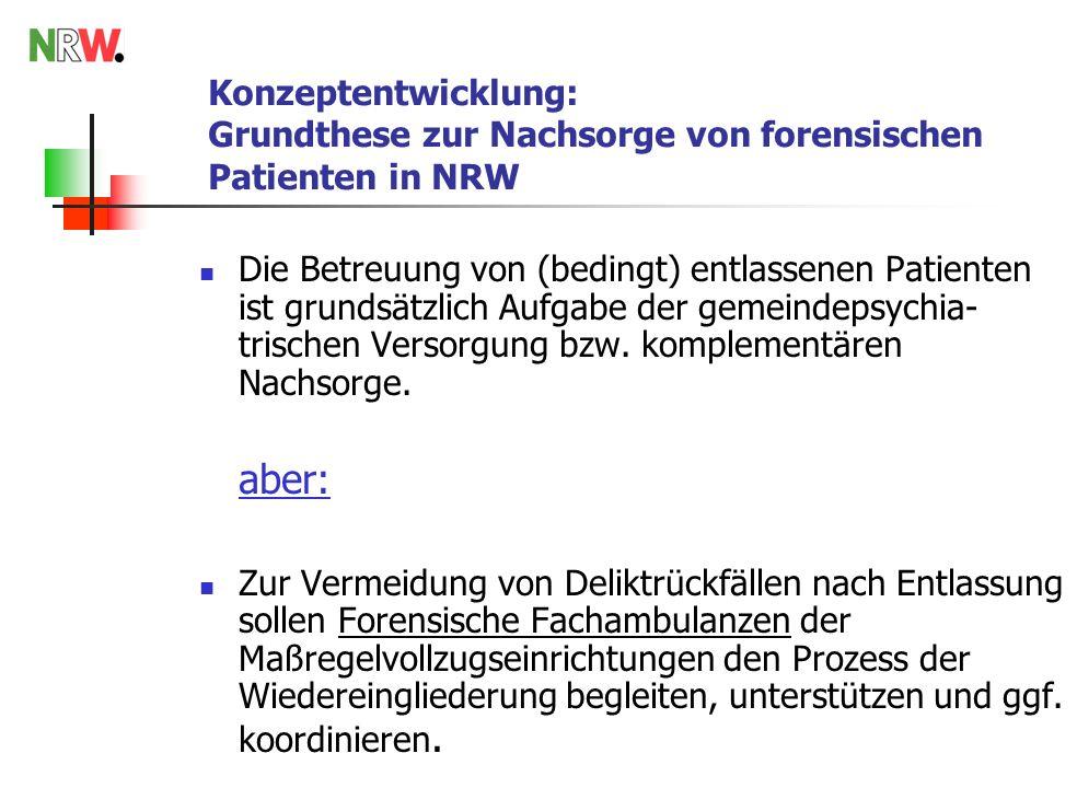 Konzeptentwicklung: Grundthese zur Nachsorge von forensischen Patienten in NRW