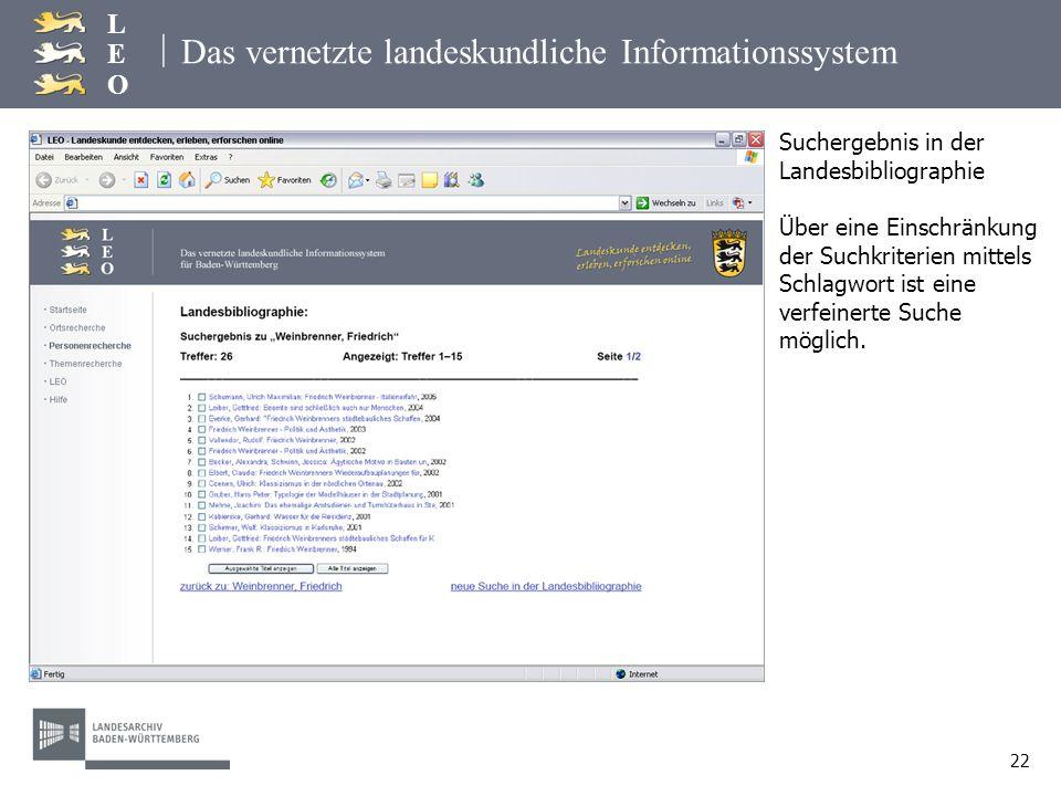 Das vernetzte landeskundliche Informationssystem