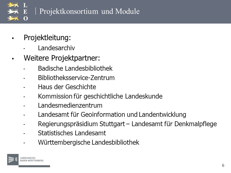 Projektkonsortium und Module