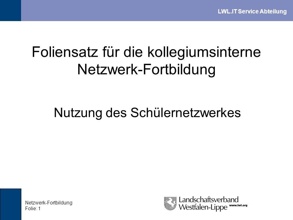 Foliensatz für die kollegiumsinterne Netzwerk-Fortbildung