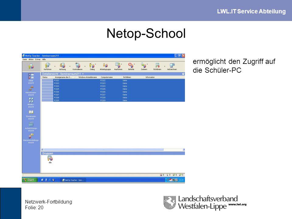 Netop-School ermöglicht den Zugriff auf die Schüler-PC