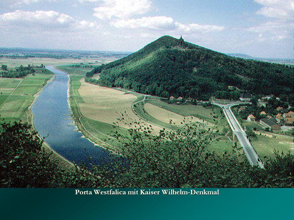 Porta Westfalica mit Kaiser Wilhelm-Denkmal