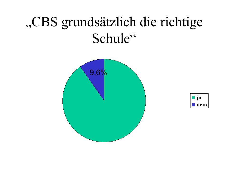 """""""CBS grundsätzlich die richtige Schule"""