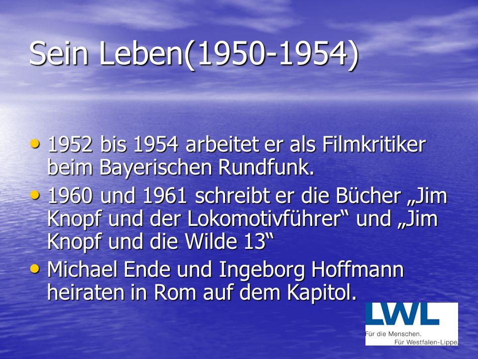 Sein Leben(1950-1954) 1952 bis 1954 arbeitet er als Filmkritiker beim Bayerischen Rundfunk.