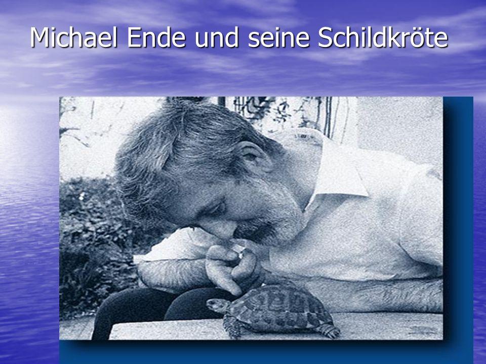 Michael Ende und seine Schildkröte