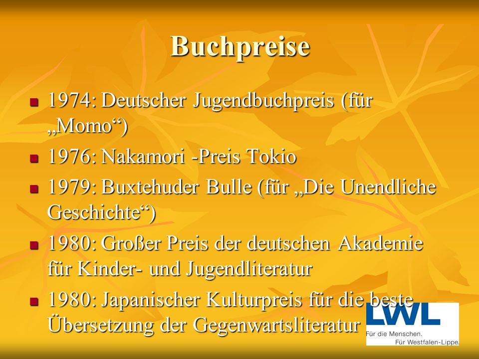 """Buchpreise 1974: Deutscher Jugendbuchpreis (für """"Momo )"""