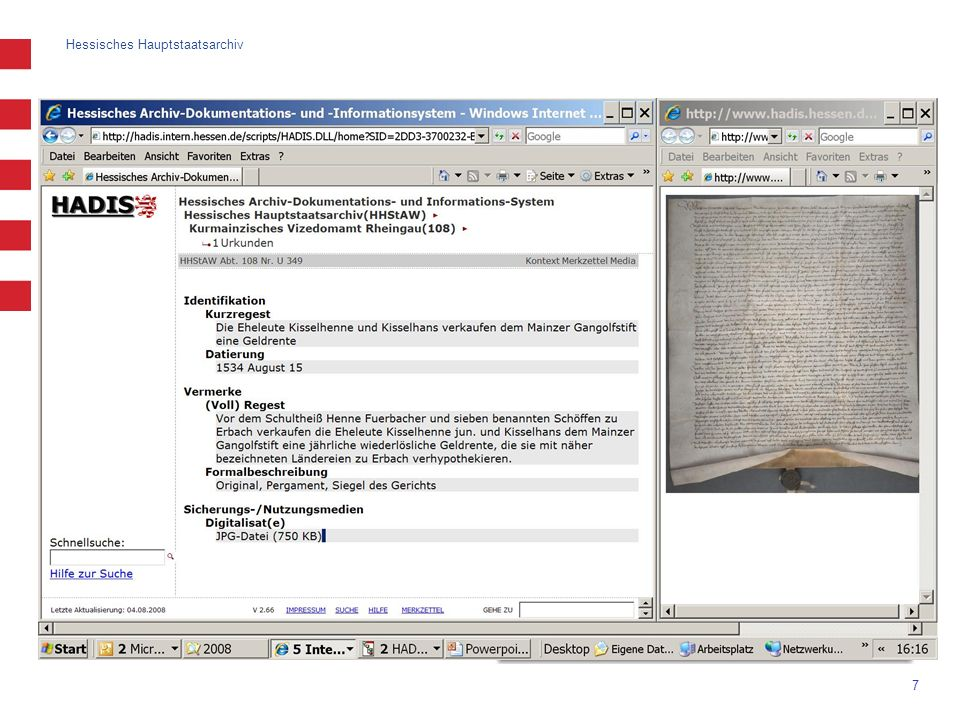 Erschließung: Verzeichnung von Archivalien (II)