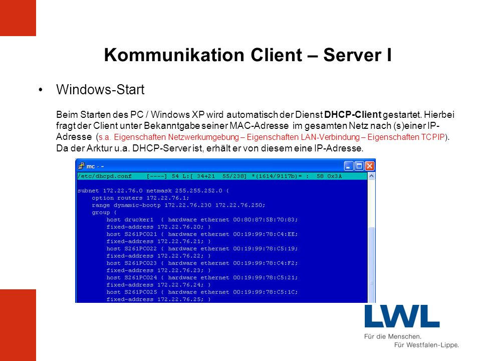 Kommunikation Client – Server I
