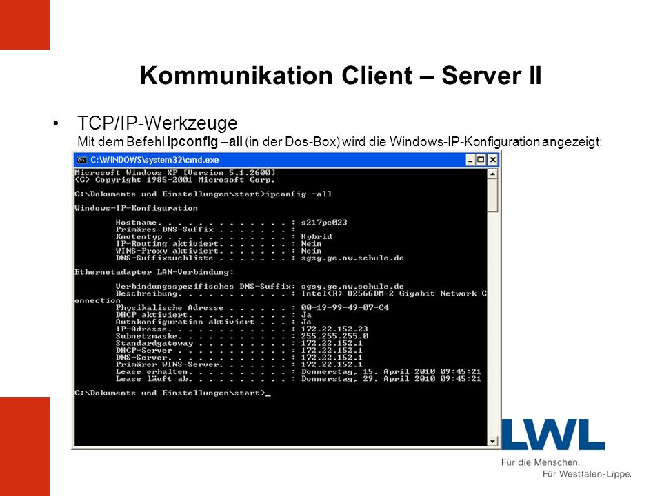 Kommunikation Client – Server II