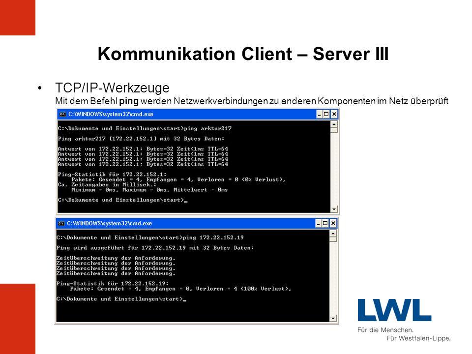 Kommunikation Client – Server III