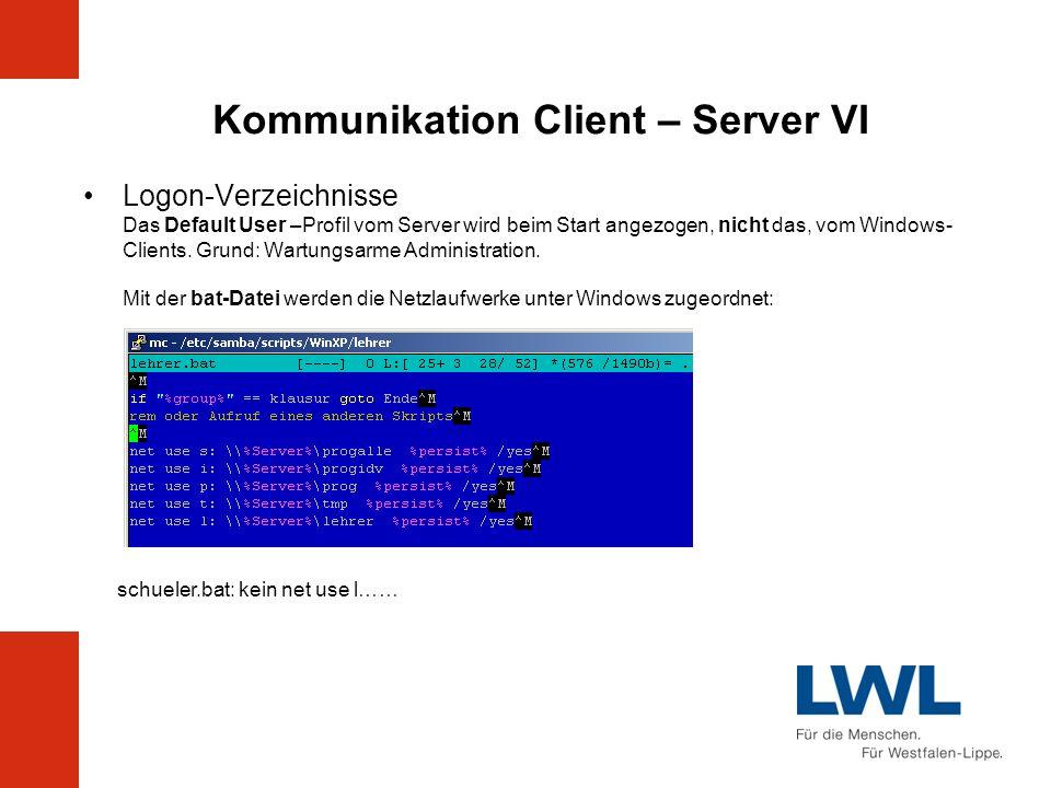Kommunikation Client – Server VI
