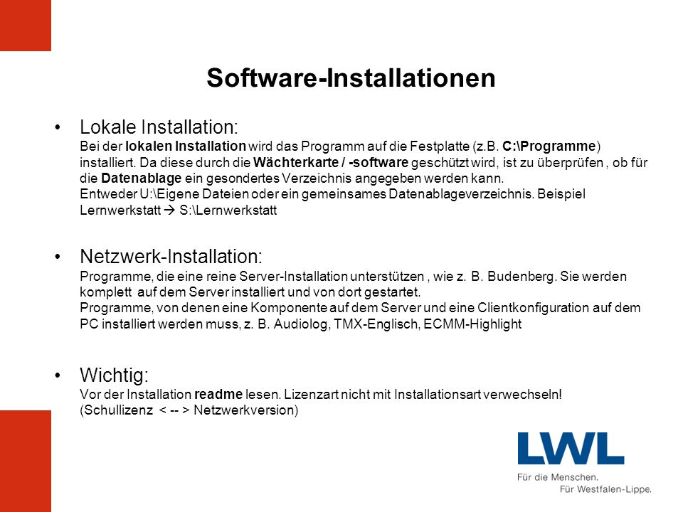 Software-Installationen